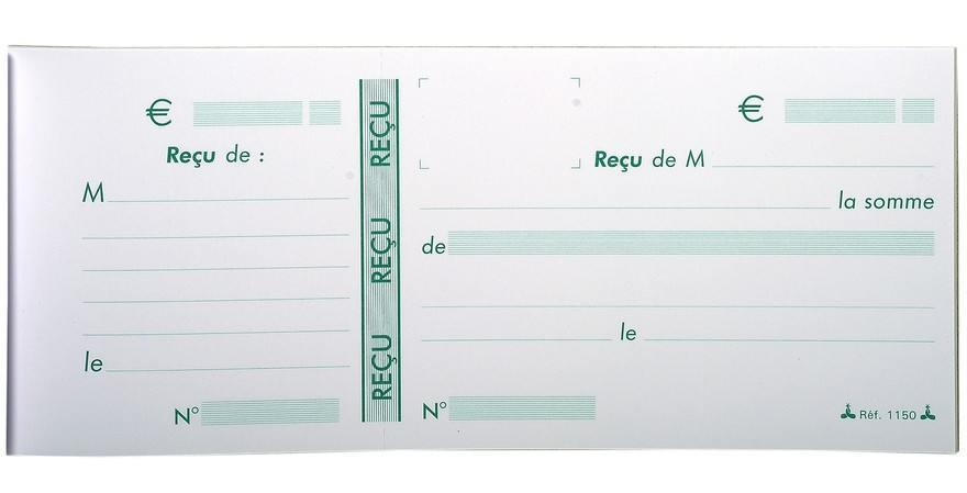 recus carnet souche le dauphin 1150d arc registres. Black Bedroom Furniture Sets. Home Design Ideas