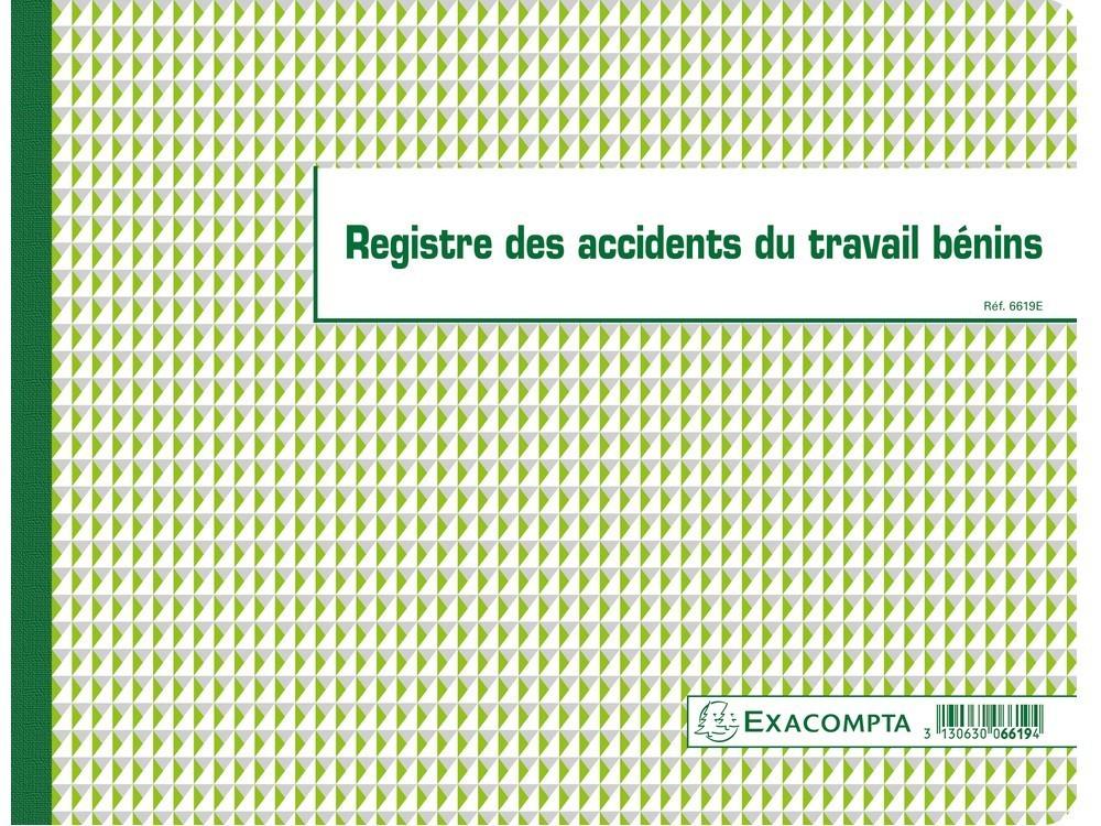 registre accidents du travail b u00e9nins exacompta 6619e