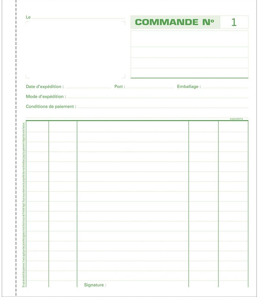 EXACOMPTA Manifold Commandes dupli 210 x 180 mm