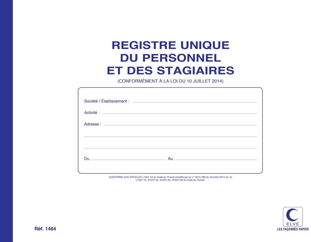 Registre du personnel et stagiaire entr e et sortie elve 1464 arc registres - Bon de reduction vente unique livraison gratuite ...