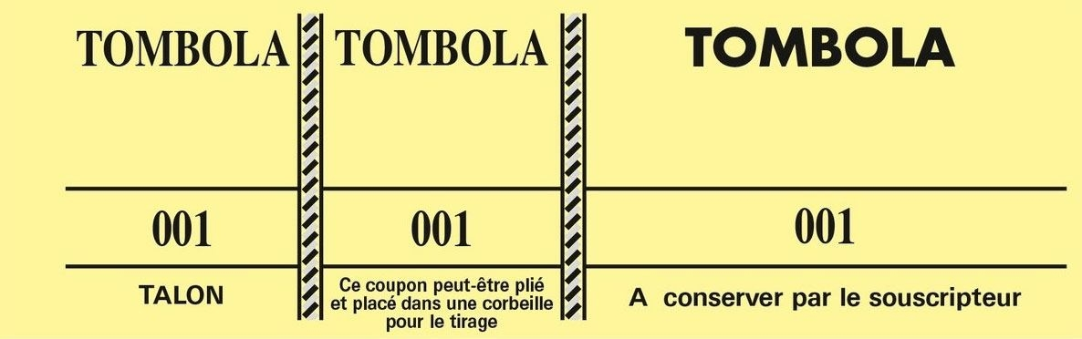 Coupons tombola